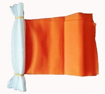 PLAIN ORANGE BUNTING - 9 METRES 30 FLAGS